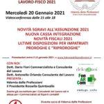 Convegno novità lavoro-fisco  2021 (20 gennaio 2021)
