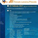 Forum lavoro/fiscale sulle ultime novità in diretta il 25 febbraio 2021 ore 15:30