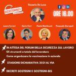 Dario Fiori invitato alla trasmissione Diciottominuti del 13 maggio 2021